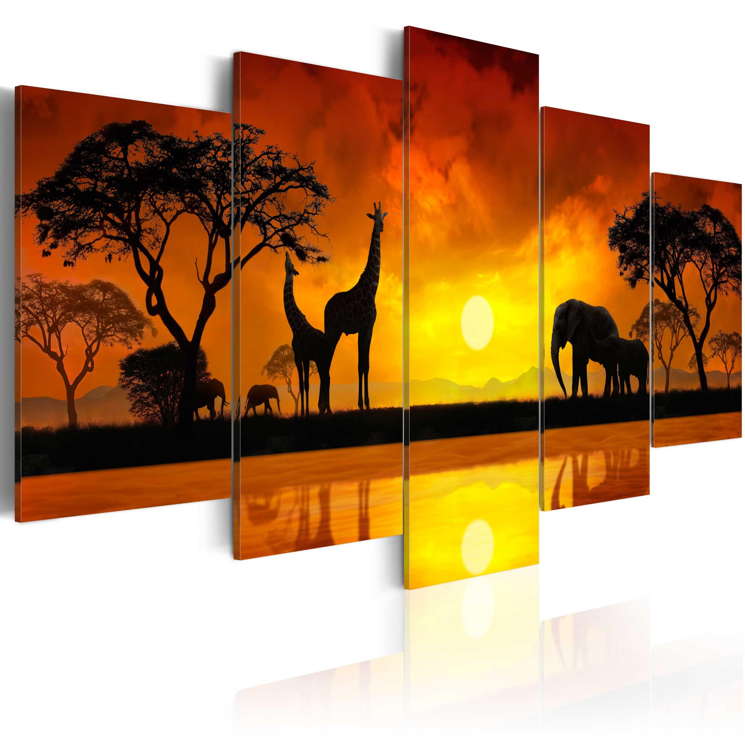 hot sale online 359de c6be7 Quadro - Savana - Tramonto Del Sole Erroi