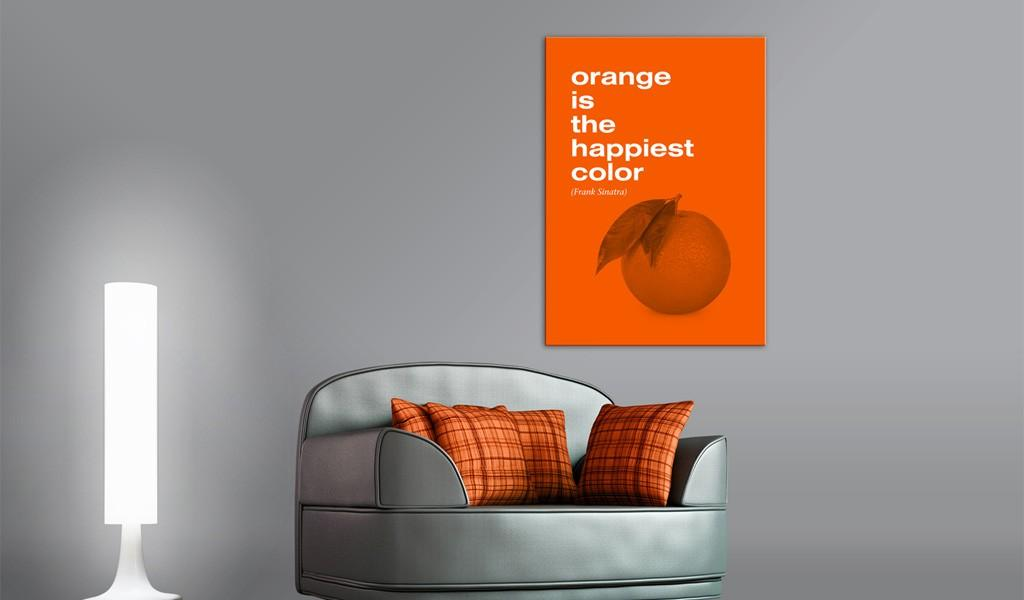 Quadro - Orange Is The Happiest Color Frank Sinatra Erroi