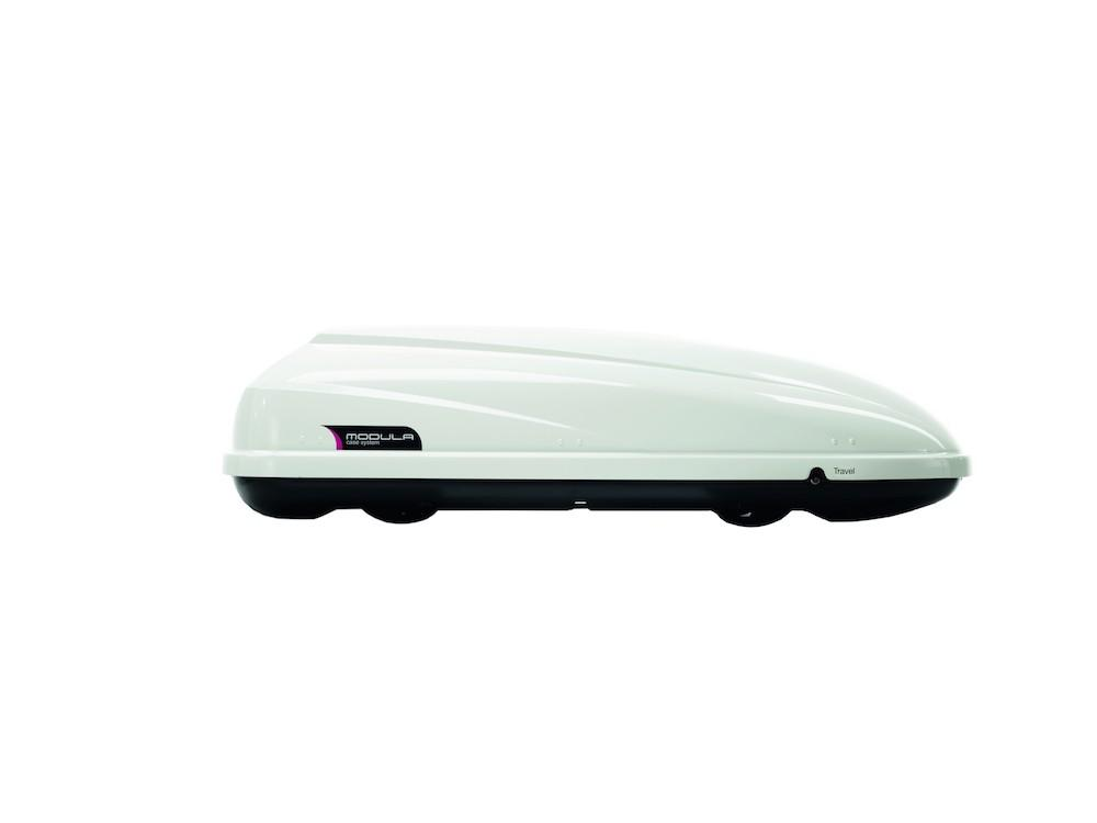 Box Cofano Auto Portatutto da Tetto 370L-650L Modula CS Travel Exclusive Bianco Lucido