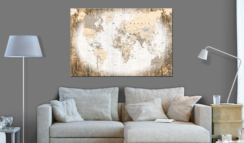 Quadro Di Sughero - Enclave Of The World [Cork Map] 120x80cm Erroi