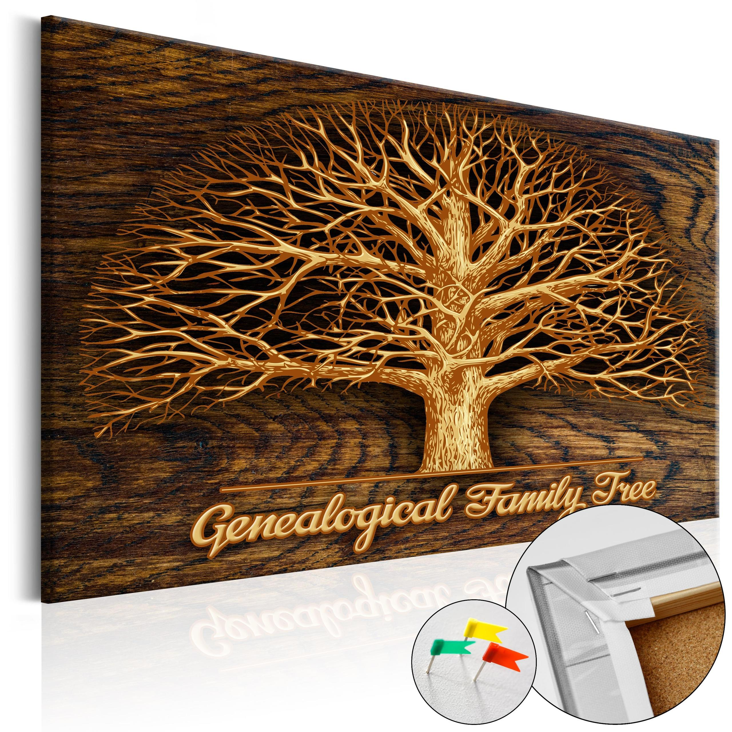 Quadro Di Sughero - Family Tree [Corkboard] 120x80cm Erroi