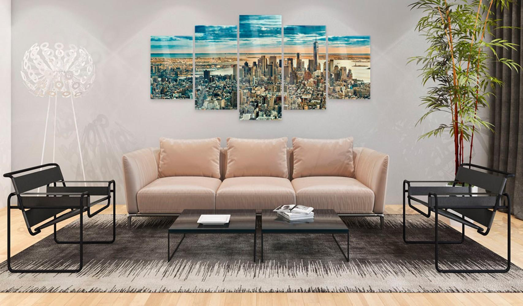 Quadro Su Vetro Acrilico - Ny - Dream City 100x50cm Erroi