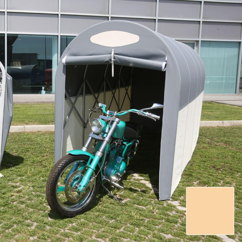 Motobox a Tunnel Copertura Box in PVC per Moto Scooter - 270x150xh160 cm Beige Maddi