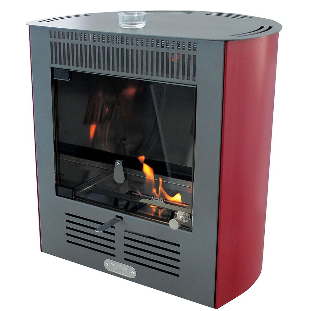 Stufa a Bioetanolo da Interno 2300W Karlsen Mini Smart Bordeaux
