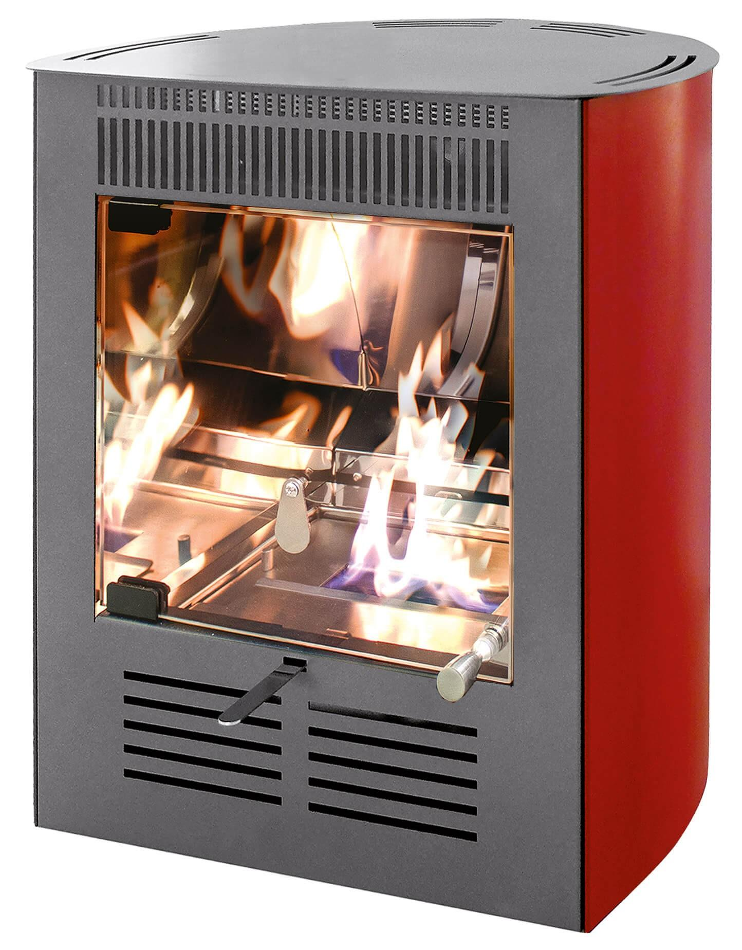Stufa a Bioetanolo da Interno 2300W Karlsen Ruby Mini Smart Boerdeaux