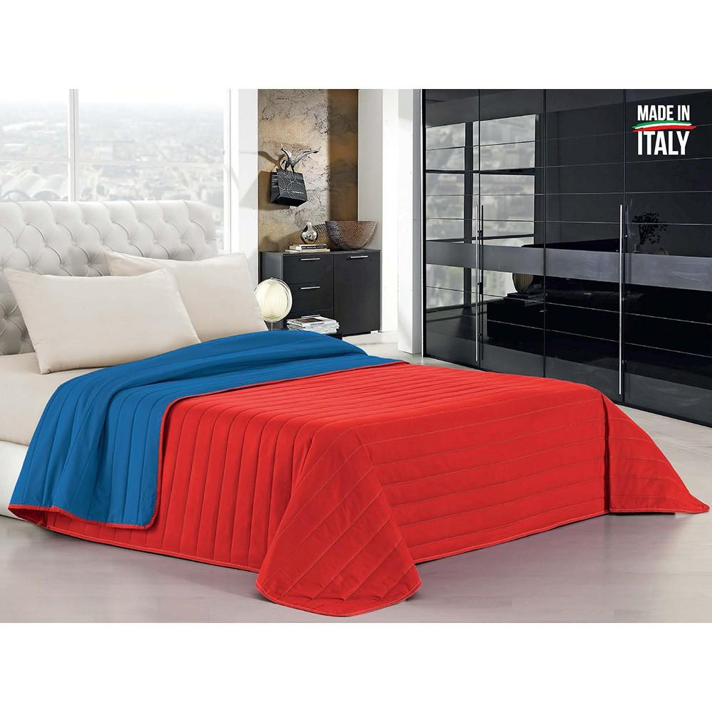 Trapuntino Doubleface Fazzi royal/rosso