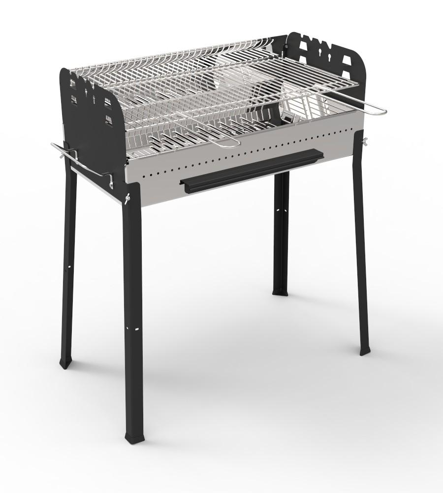 Barbecue a carbone carbonella in acciaio 88x48x49cm for Giordano shop barbecue a gas